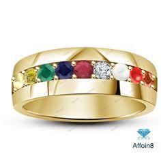 Dividiamonds 14k Yellow Gold Plated 6mm Plain Wedding Band Comfit for Mens /& Women