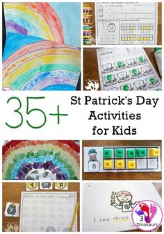 Printables and St. Patrick's Day activities – St Patrick's Day Crafts DIY St Patrick Day Activities, Preschool Learning Activities, Spring Activities, Free Activities, Yarn Crafts For Kids, Crafts To Do, Abc Tracing, St Patricks Day Crafts For Kids, Shapes For Kids