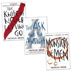 BOOKS trilogy - Chaos Walking Trilogy (The knife of never letting go, the ask and the answer, monsters of men) (new or used)