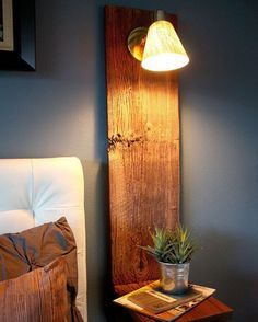 """""""By Homedit(Pinterest)  Old pallets and light. Beautiful combination of upcycled interior design!  Tag 2 friends who will love this!  Wanna get featured?…"""""""