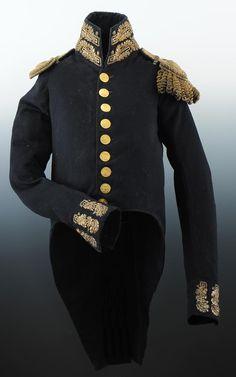 HABIT DE PETIT UNIFORME D'OFFICIER DE L'ÉTAT-MAJOR DES ARMÉES, ADJUDANT COMMANDANT, AU RÈGLEMENT DU 1er VENDÉMIAIRE AN XII, PREMIER EMPIRE.