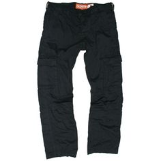 SUPERDRY cargo pants in Black MB7BF007F3, Free Shipping at CelebrityModa.com