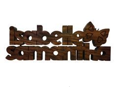 Wood Wall Name Signs Personalized Children. by CandlewoodFurniture