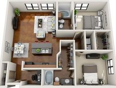 The Home Decor Guru – Interior Design For Bedrooms Sims 4 House Plans, Tiny House Plans, House Floor Plans, Layouts Casa, House Layouts, Sims House Design, Modern House Design, Apartment Floor Plans, Apartment Layout