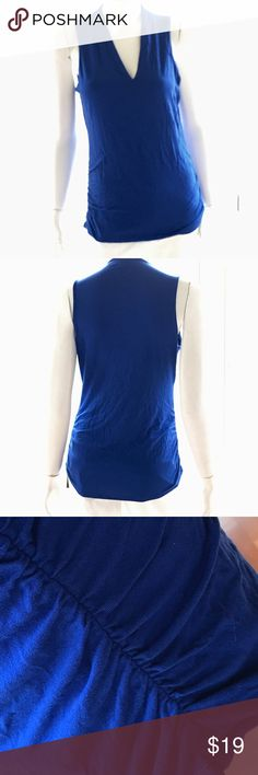 NEW INC royal blue knit v neck tank sleeveless top Rayon spandex blend with nylon lining. Soft, cozy texture. Very stretchy. New w tags. Size large is modeled on a size 6 mannequin. Visit my closet for new w tag items at great prices for bundling & complete summer wardrobe in all sizes! Retail $49.50 INC International Concepts Tops Tank Tops