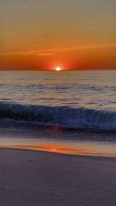 Sunrise and Ocean Waves