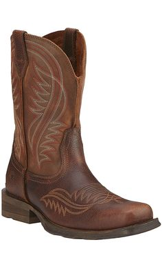 Ariat Rambler Men's Moccasin Brown Wide Square Toe Western Boots | Cavender's