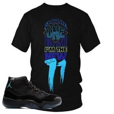 3f1b1cb5c84fec Air Jordan Retro 11 gamma blue sneaker t-shirt. This sneaker tee shirt for  the Retro XI Gamma Blue shoe is a perfect choice!