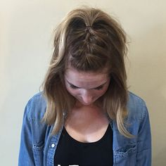 "Braided Mohawk - Hair by Hal / Jolie Salon and Day Spa / Hairstylist / Philadelphia | ONE BOB, NINE STYLES - NINE EASY WAYS TO STYLE YOUR LONG BOB & NOT LOOK LIKE YOUR ""MOTHER"""