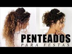 PENTEADOS DE FESTA PARA CABELOS CACHEADOS | Vandressa Ribeiro - YouTube