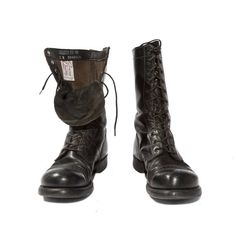 Vintage Combat Boots by Corcoran Black by RabbitHouseVintage, $98.00