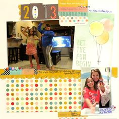 Ideas for Dimension on Scrapbook Pages | Scrapbook Page by Katie Scott | GetItScrapped.com/blog
