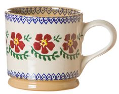 An ideal mug for a nice cup of Irish tea, this is the most popular pattern in our extensive range of Nicholas Mosse pottery. Each piece is individually handthrown and then handpainted using a traditional sponging technique. Pottery Mugs, Pottery Bowls, Ceramic Pottery, Irish Pottery, Irish Tea, Irish Design, Large Coffee Mugs, Old Rose, Fun Cup