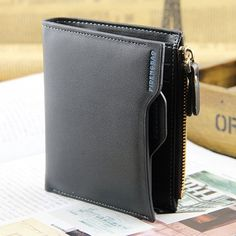 Men's Bifold Leather ID Credit Card Holder Zip Coin Purse Clutch Billfold Wallet for sale online Billfold Wallet, Purse Wallet, Zip Wallet, Tops Online Shopping, Coin Bag, Leather Bifold Wallet, Leather Men, Purses, Card Holder