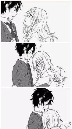 Anime Couple :: Manga :: Horimiya :: Miyamura x Hori Couple Anime Manga, Couple Amour Anime, Manga Anime, Anime Couples Drawings, Anime Love Couple, Cute Anime Couples, Anime Couples Hugging, Couple Hugging, Hot Anime