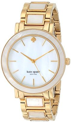 """kate spade new york Women's """"Gramercy"""" Rose Gold and Mother-of-Pearl Bracelet Watch Pearl Bracelet, Bracelet Watch, Pearl Jewelry, Gold Jewelry, Gold Watches Women, Kate Spade Watch, Vogue, Look Cool, Jewelry Watches"""