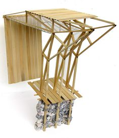 architecture - Wall Section Model Aerial Architecture Panel, Architecture Portfolio, Concept Architecture, School Architecture, Architecture Details, Drawing Architecture, Timber Structure, Arch Model, Architectural Section