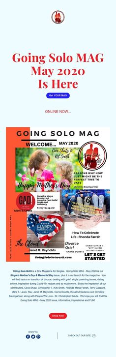 Going Solo MAG  May 2020  Is Here
