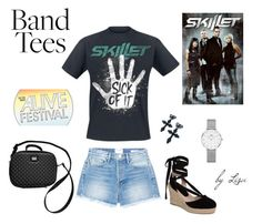 """""""Skillet Rocks"""" by coolmommy44 ❤ liked on Polyvore featuring Frame, Topshop, Dolce&Gabbana, Daniel Wellington, polyvoreeditorial, bandtees and polyvorecontest"""