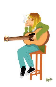 xpayne: Kurt Cobain Kurt Cobain Art, Kurt Cobain Photos, Nirvana Kurt Cobain, Kurt Cobian, Kurt And Courtney, Nirvana Tattoo, Donald Cobain, Find My Friends, Design Comics