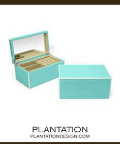 Lacquer Jewelry Box   Turquoise