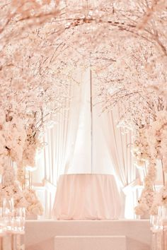 What a vision in spring and pink for a ceremony!  Koby Bar Yehuda for kbydesigns www.kbydesigns.com