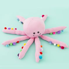 Cotton is the ultimate DIY fabric because there is so much you can make with it. This easy and adorable Cotton Octopus Pillow is a great craft to make for the kids!