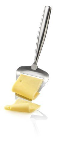 """Boska Holland De Luxe Stainless Steel Cheese Slicer by Boska Holland. $16.95. Dishwasher safe ~ Length: 8.25"""". Made of brushed stainless steel. Designed for use on semi-hard to hard cheeses, featuring a flexible, thin blade and a sharp edge to ensure a clean thin slice of many types of cheese!. Made in the Netherlands. Boska Holland De Luxe Stainless Steel Cheese Slicer. Boska Holland was founded over 100 years ago in Bodegraven near Gouda, home of the original Gouda..."""
