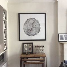 """LinusNYC added a photo of their purchase. """"Beautifully framed with 2.5"""" black wood frame no matting and plexi. Total dimensions 39x 39."""""""
