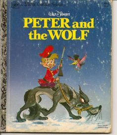 VINTAGE Little Golden Book Walt Disneys PETER AND THE WOLF Childrens Book via Etsy