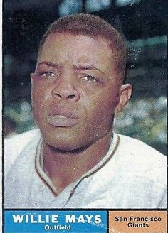 1961 Topps # 150 Willie Mays Giants VG/VG (BK: $100.) Wrinkle card bottom.
