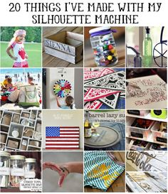 Silhouette Machine Project Ideas by lilblueboo.com via babble.com