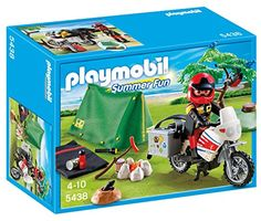 Playmobil 5438 Summer Fun Biker at Campsite Camping Playmobil, Playmobil Toys, Playmobil France, Super Cool Stuff, Black Friday Specials, Play Food, Toy Sale, Sleeping Bag, Pretend Play