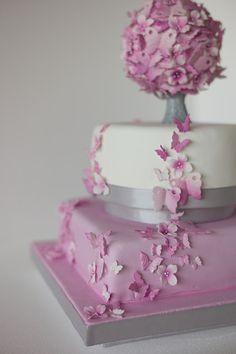 mariposas+ cake