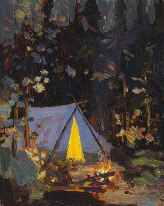 Tom Thomson, Campfire, 1916