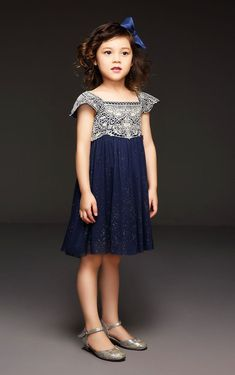Dark Blue Formal Dress for Toddler Tulle by BoutiquePoshPrincess