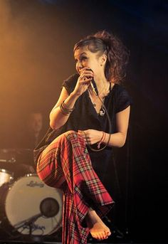 Isabelle Geffroy, known by the pseudonym ZAZ, is a singer from Tours, France, who blends the styles nu jazz, soul and acoustic in her music