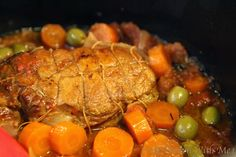 Cook French with Me : Veal Roast with Carrots and Green Olives
