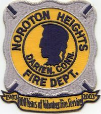 NOROTON HEIGHTS Darien CONNECTICUT FIRE PATCH