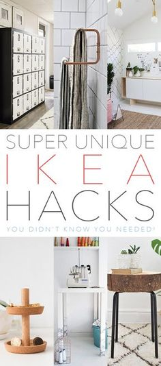 It's time for a collection of Super Unique IKEA Hacks You Didn't Know You Needed! IKEA Hacks are so much fun and these sure fall in that category. From a set of amazing Lockers to a Marble Tipped Table…not to mention a Cabinet turned into a Doll House and then there is Super Trendy Wood …