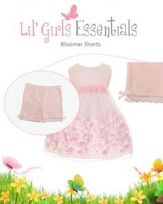 81cb48205bd64 Cute modesty bloomer shorts, for your little girl, to wear under dresses,  skirts