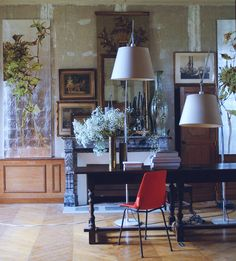 At Home With artist & painter, Claire Basler (French, b. 1960) | Chateau de Beauvoir, Central France |