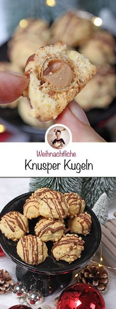 These crispy balls are very easy to close and have .-Diese Knusper-Kugeln sind sehr einfach zumachen und haben innen eine leckere Üb… These crispy balls are very easy to close and have a tasty surprise inside. Easy Cookie Recipes, Easy Desserts, Dessert Recipes, Dinner Recipes, Dessert Simple, Food Cakes, No Bake Cookies, Cookies Et Biscuits, Baking Cookies
