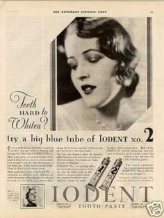 Iodent Tooth Paste (1929)