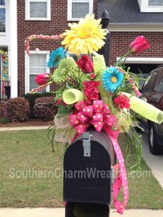 Deco Mesh Wreath Decorations | post a comment labels deco mesh garland easter decor mailbox swag ...