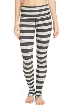 Free People 'Namaste' Stripe Stirrup Leggings available at #Nordstrom