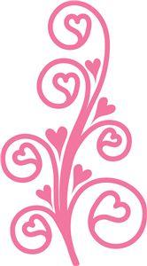 Silhouette Design Store - View Design #7110: heart flourish