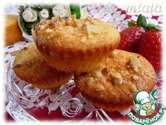 Творожные кексы с ореховой корочкой