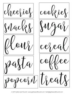 Free SVG pantry label cut files as well as printable sticker sheet pantry labels! Free SVG pantry label cut files as well as printable sticker sheet pantry labels! Kitchen Labels, Pantry Labels, Kitchen Pantry, Kitchen Decor, Spice Labels, Canning Labels, Canning Recipes, Diy Kitchen, Pantry Storage Containers