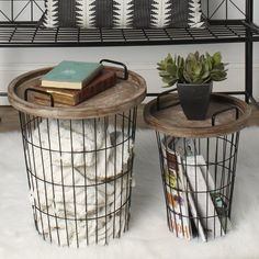 Refresh your home decor with these practical modern nesting accent tables. These decorative utilitarian end tables are designed to fit perfectly in your living room, bedroom, or home office for a functional alternative to the classic end table. Farmhouse Side Table, Farmhouse Decor, Modern Farmhouse, Living Room Designs, Living Room Decor, Living Area, Decor Room, Small Living, Wall Decor